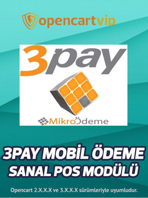 3Pay Mobil Ödeme Sanal Pos Modülü