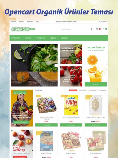 Opencart Organik Ürünler Teması