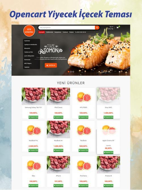 Opencart Yiyecek İçecek Teması