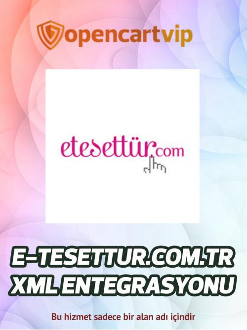 E-tesettur.com.tr Opencart Xml Entegrasyonu